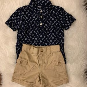 Boys Ralph Lauren polo and shorts